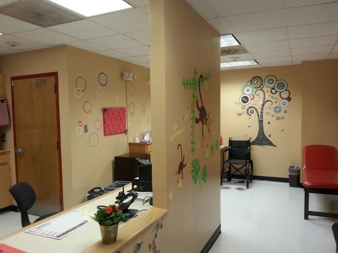 What a cool nurses office!