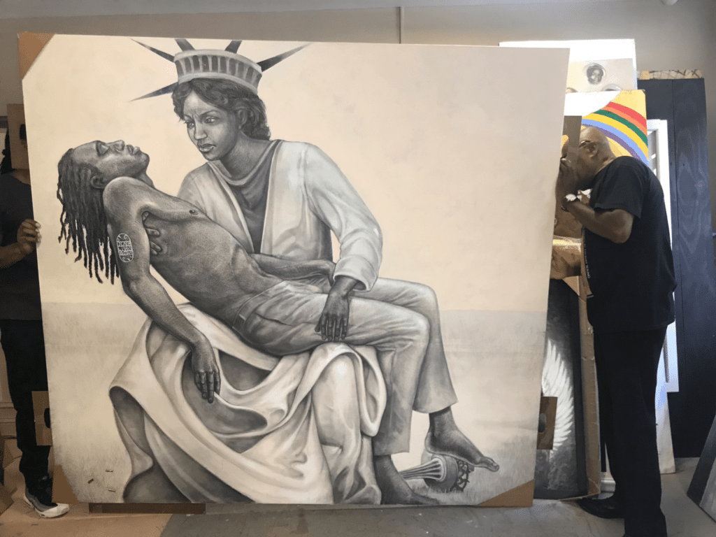 Meria Carstarphen and Artist Gilbert Young