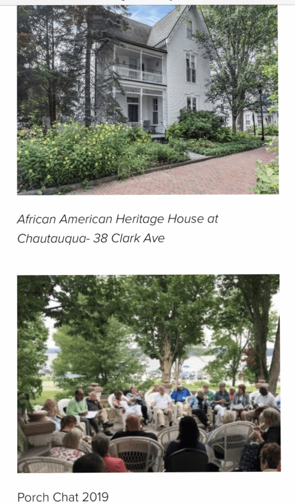 Chautauqua and Meria Carstarphen and Frederick Douglass and African American Heritage House